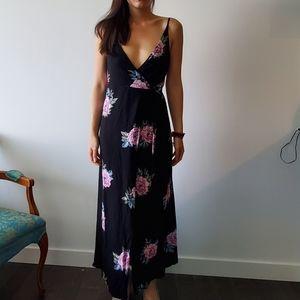 Element black floral maxi dress size 8 aus small
